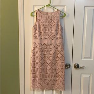 Pink lace lined dress by Kasper